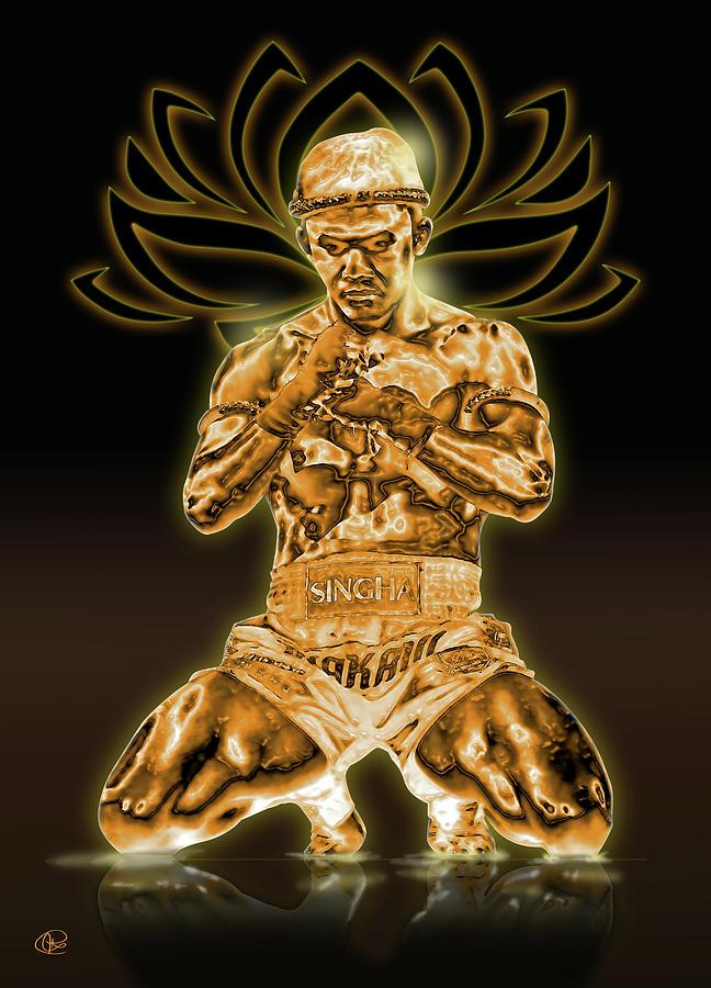 Muay Thai Digital Art - Buakaw by Hay Rouleaux