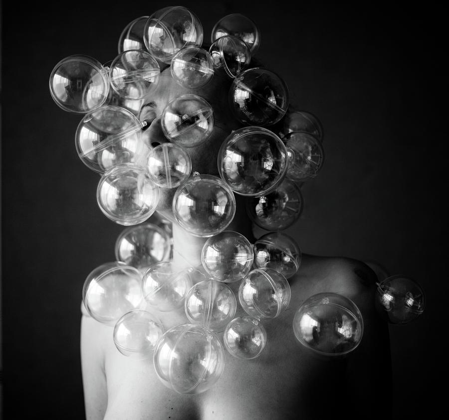 Bubble Face Photograph by Emmanuelle Brisson