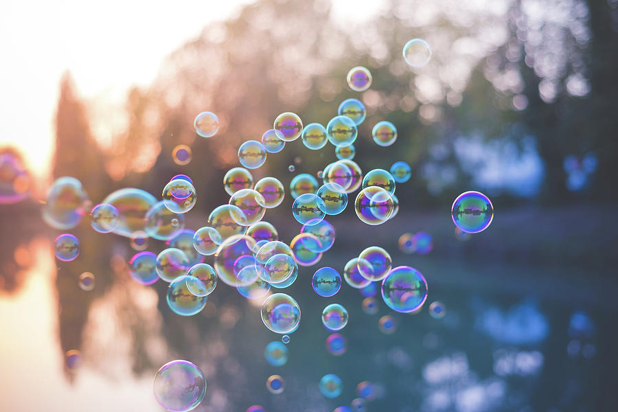 Bubbles Floating Photograph by Eugenio Marongiu