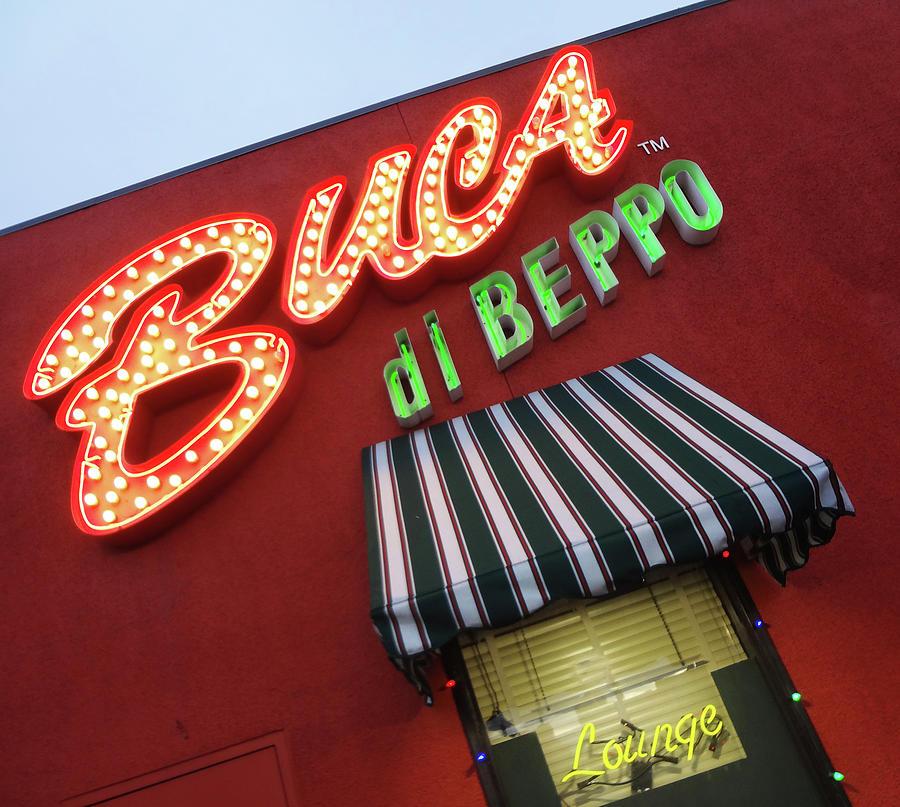 Italian Restaurant Photograph - Buca Di Beppo by Bruce IORIO