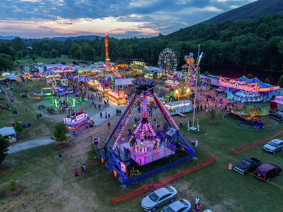 Buchanan Carnival Night by Star City SkyCams