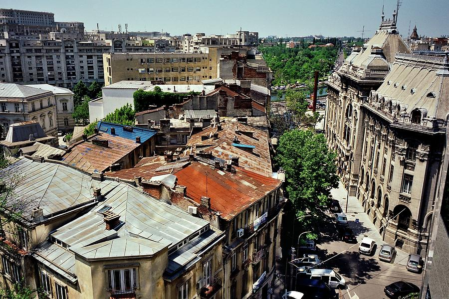 Bucharest Tin Roof Skyline Photograph by Image By Damian Bettles