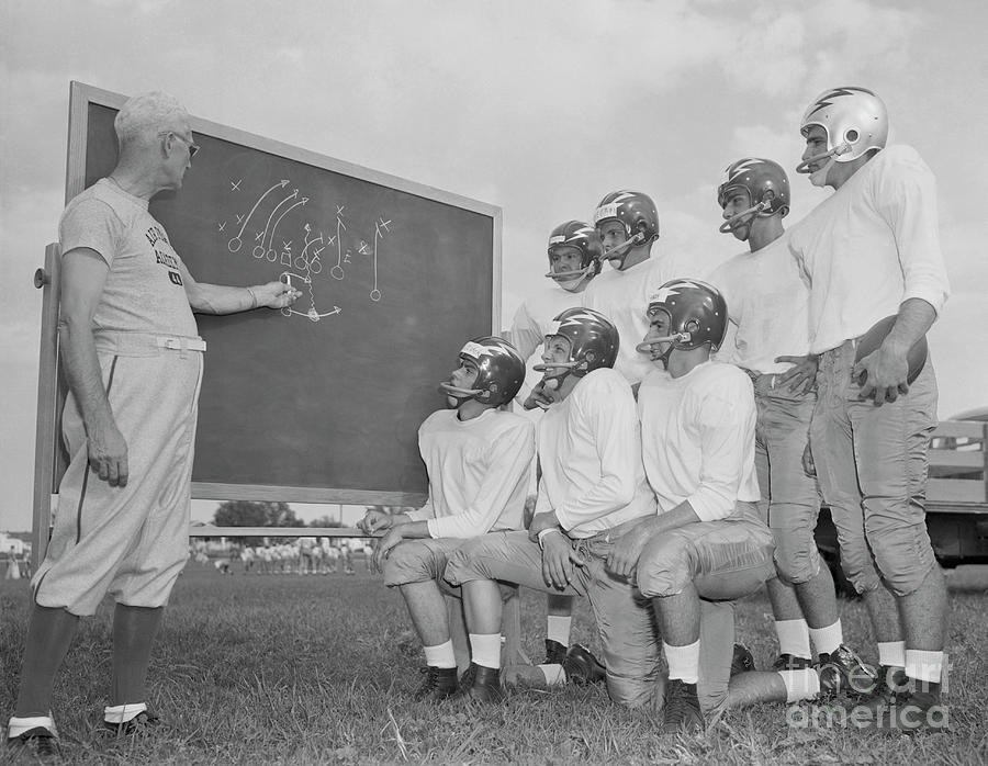 Buck Shaw With Air Force Academy Squad Photograph by Bettmann
