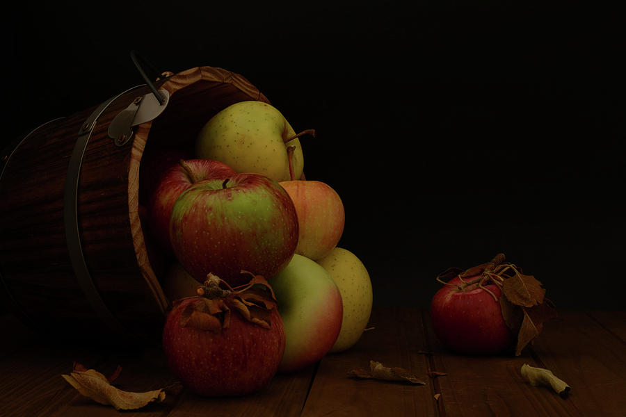 Bucket of assorted apples turned over by Alessandra RC