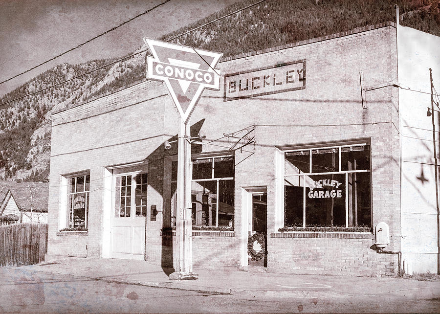 Conoco Photograph - Buckley Garage - Georgetown Co by Stephen Stookey