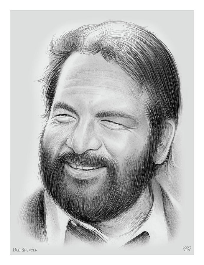 Bud Spencer Drawing - Bud Spencer by Greg Joens