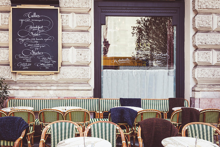 Budapest Photograph - Budapest Cafe by Andrew Soundarajan