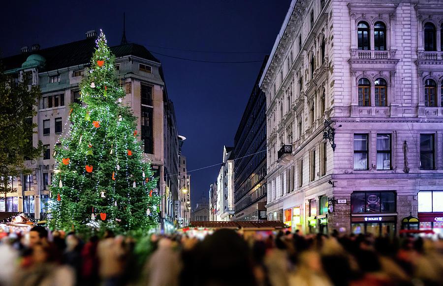 Budapest - Christmas Market Photograph by John And Tina Reid