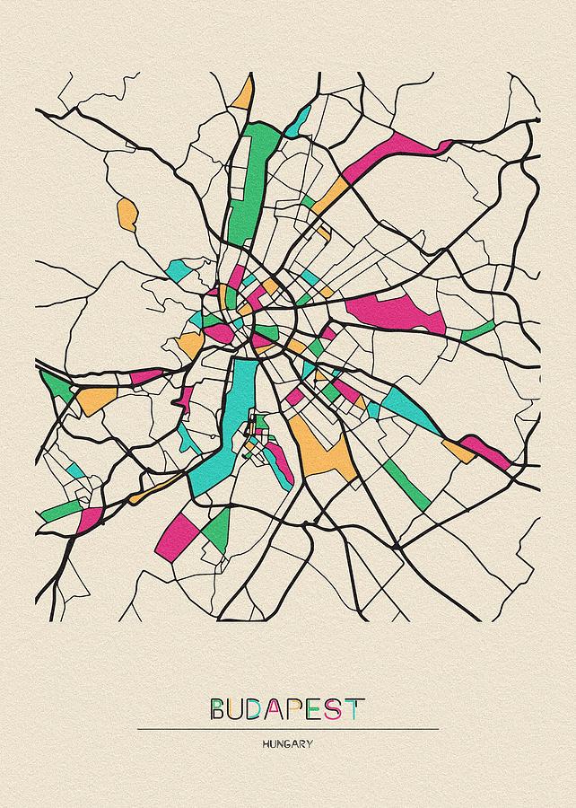 Budapest, Hungary City Map