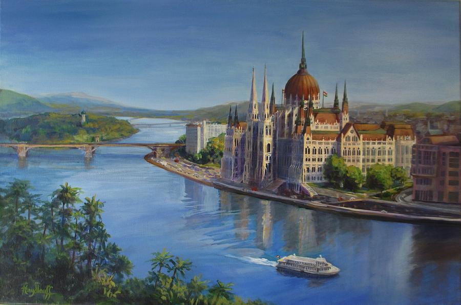 Blue Danube Painting - Budapests Blue Danube by Pat Heydlauff