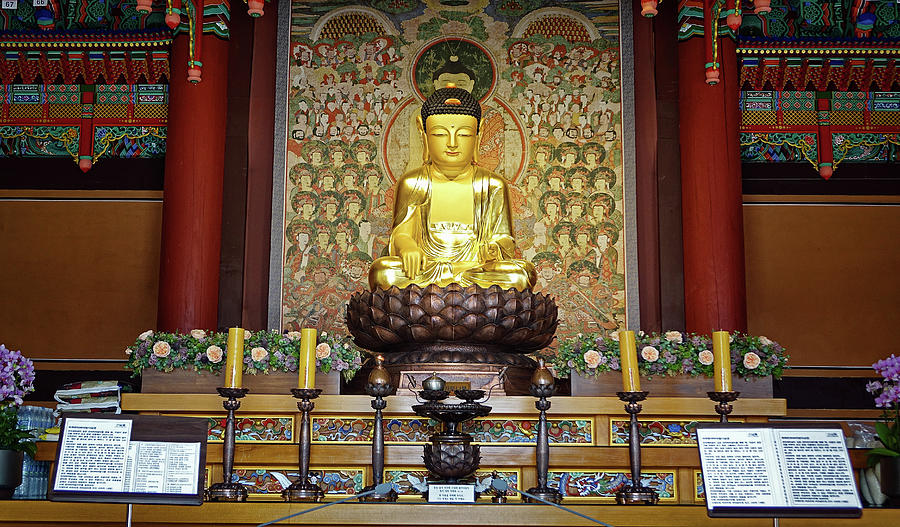 Buddha at the Temple by Cameron Wood