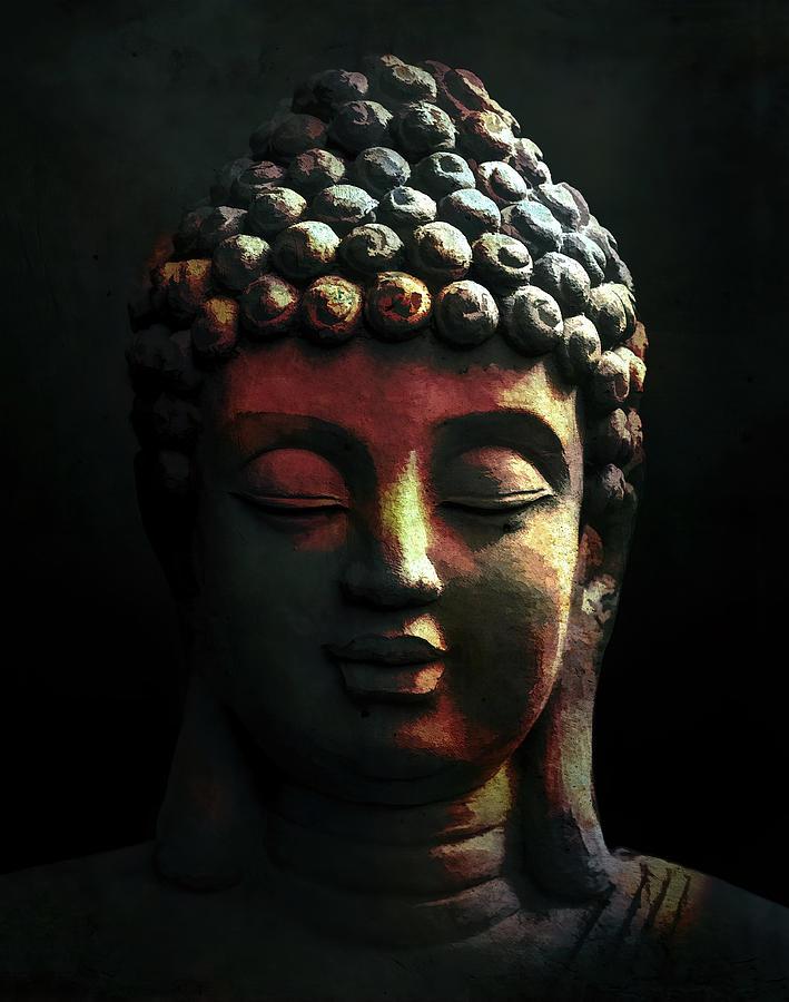 Buddha Digital Art - Buddha by Davids Pixels