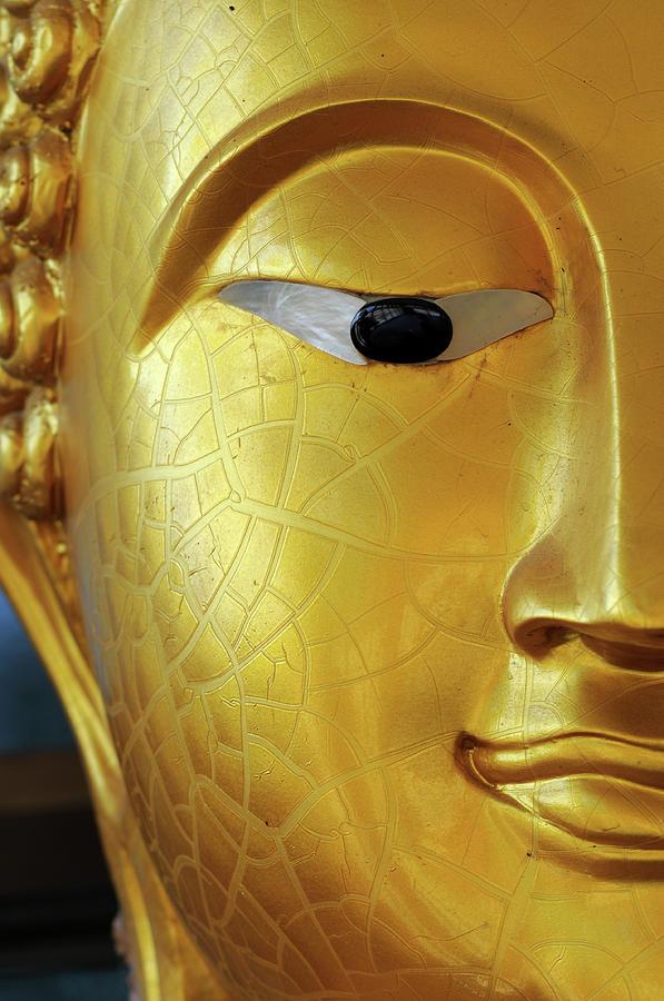 Buddha Face Close-up At Eye Photograph by Dangdumrong