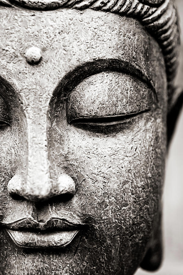 Buddha Face Photograph by Maodesign