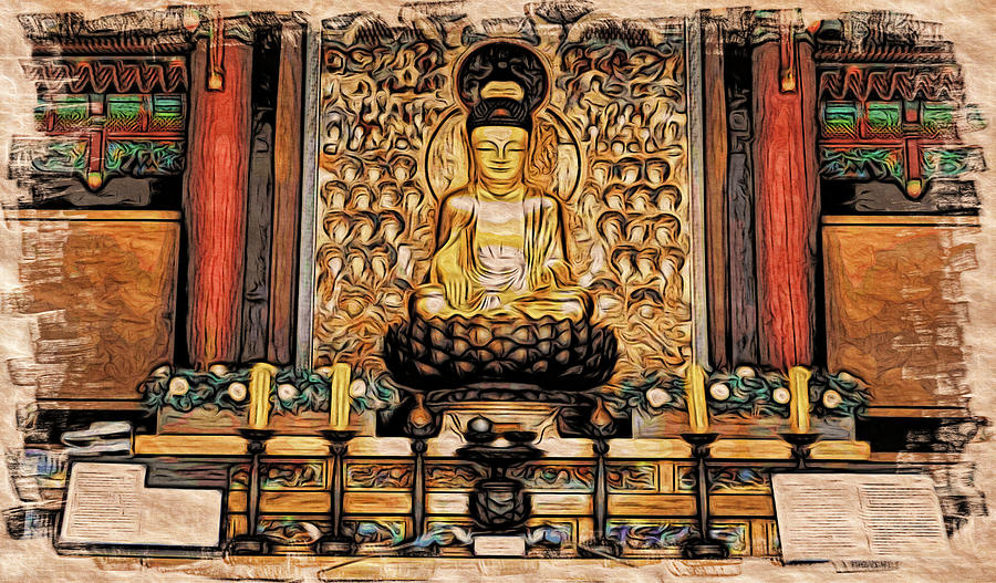 Buddha in the Temple by Cameron Wood