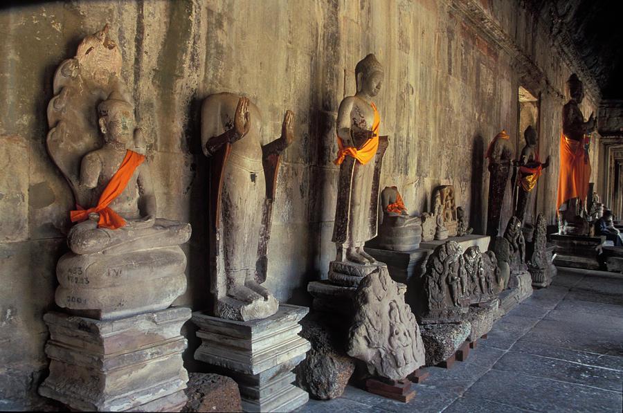 Buddha Statues, Angkor Wat, Cambodia Photograph by James Gritz