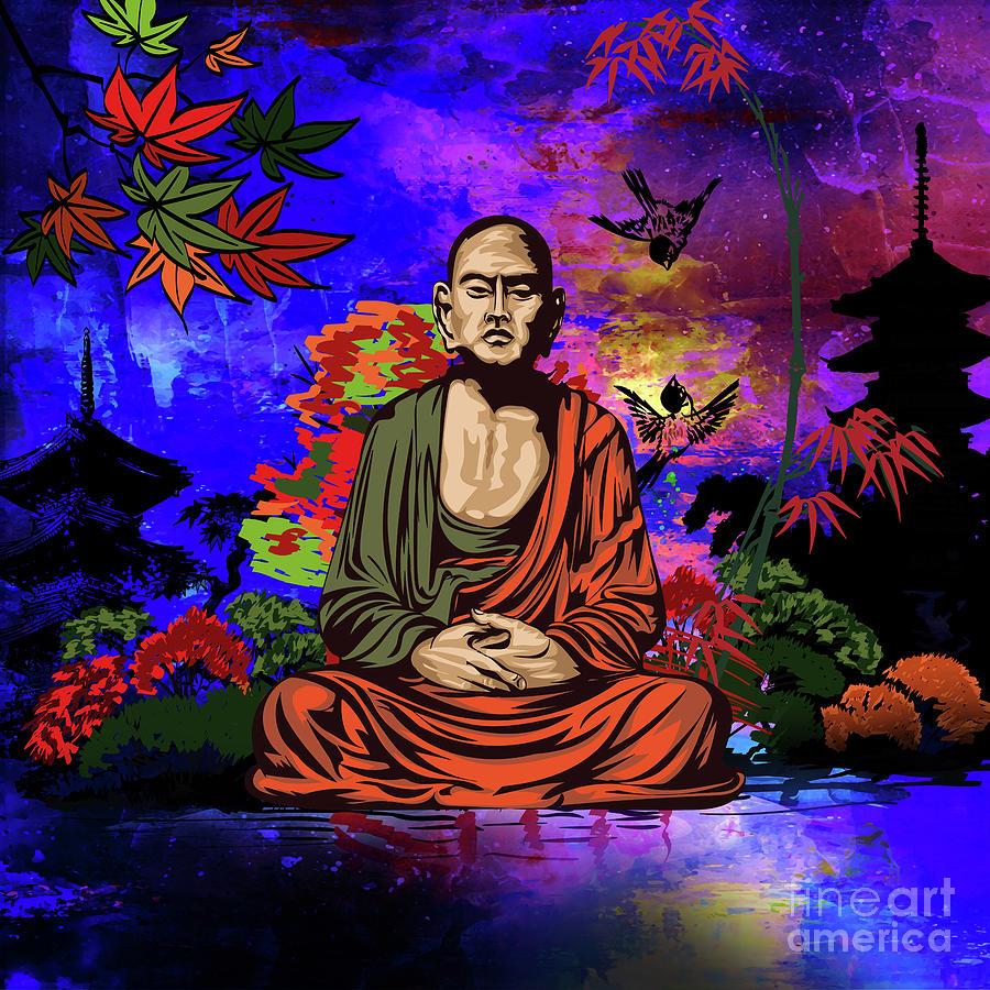 Buddhist monk. by Andrzej Szczerski