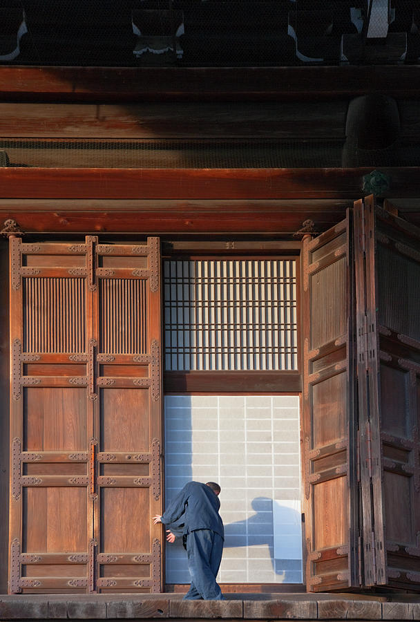Buddhist Monk At Kyotos Chion-in Temple Photograph by B. Tanaka