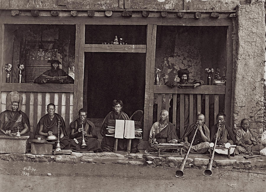 Buddhist Music Photograph by Henry Guttmann Collection