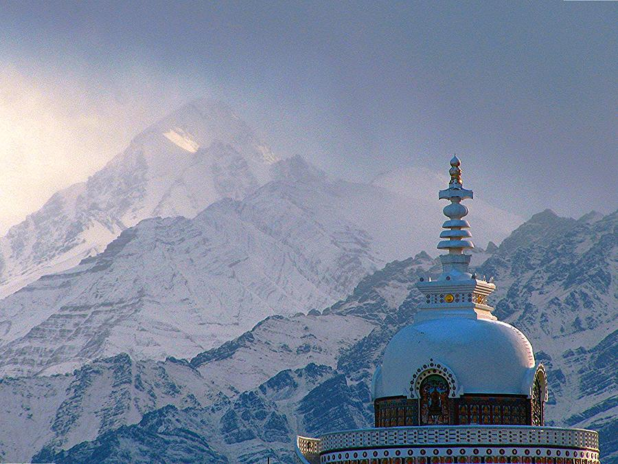 Buddhist Stupa In The Himalaya Photograph by Baxsyl