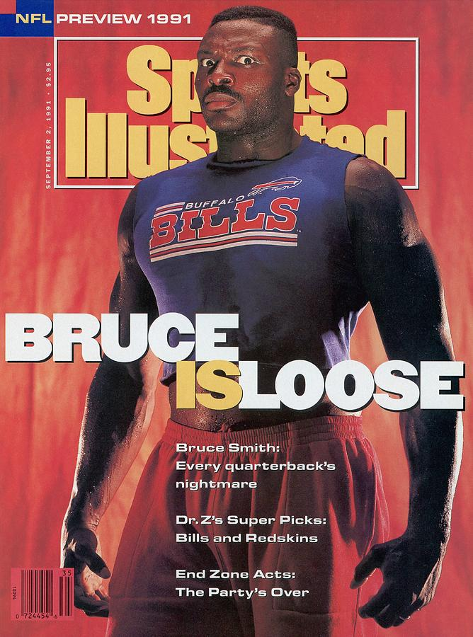 Buffalo Bills Bruce Smith, 1991 Nfl Football Preview Sports Illustrated Cover Photograph by Sports Illustrated