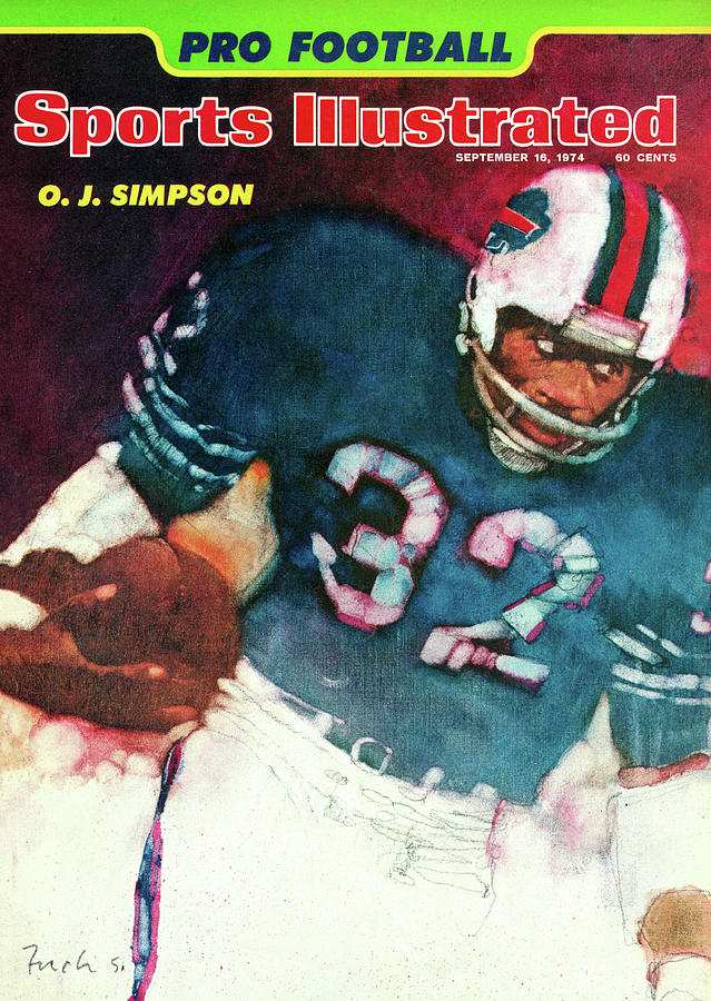 Buffalo Bills O.j. Simpson, 1974 Nfl Football Preview Issue Sports Illustrated Cover Photograph by Sports Illustrated
