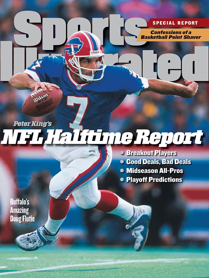 Buffalo Bills Qb Doug Flutie... Sports Illustrated Cover Photograph by Sports Illustrated