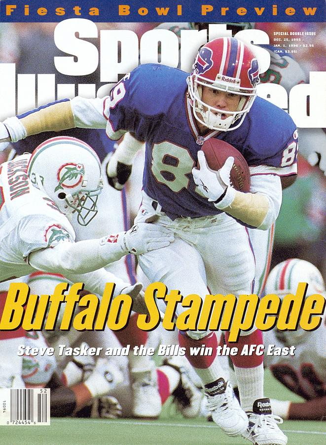 Buffalo Bills Steve Tasker... Sports Illustrated Cover Photograph by Sports Illustrated