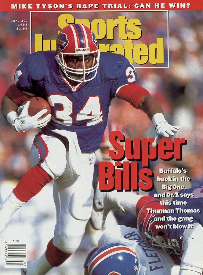 Buffalo Bills Thurman Thomas, 1992 Afc Championship Sports Illustrated Cover Photograph by Sports Illustrated