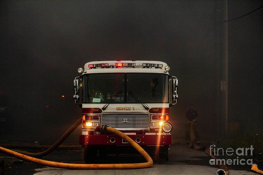 Buffalo Fire Dept Engine 1 by Jim Lepard