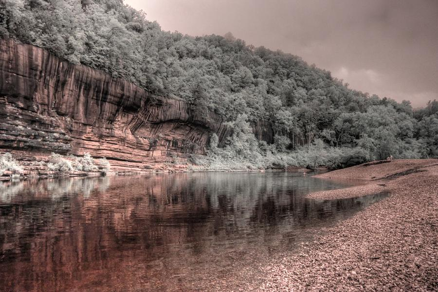 Buffalo National River Arkansas infrared by Jane Linders