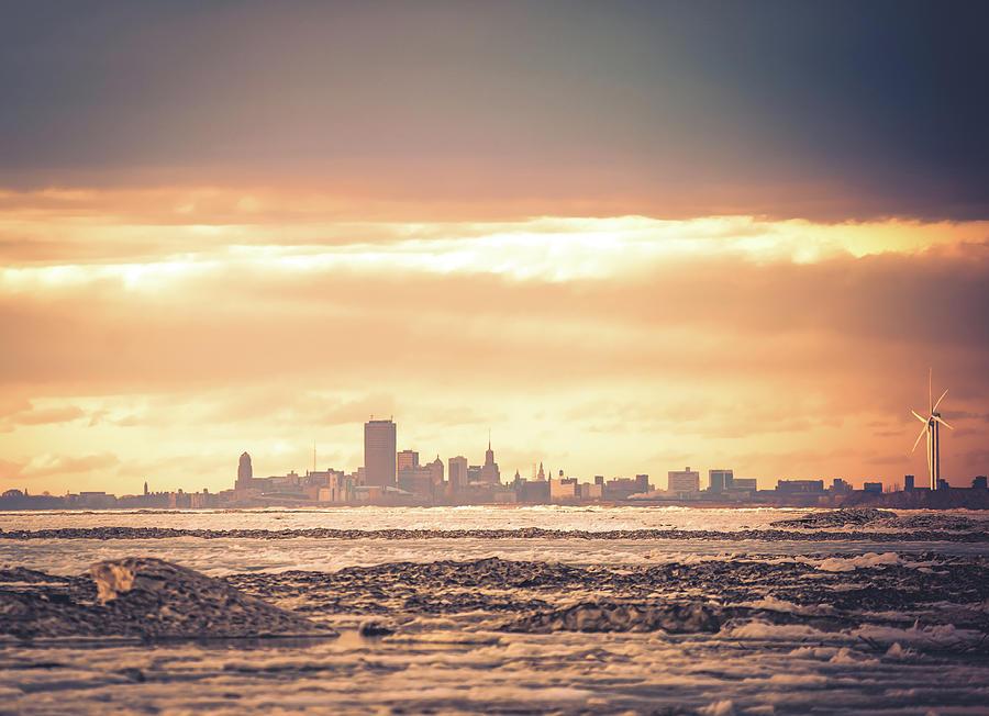 Sunset Photograph - Buffalo, NY  Sunset by Dave Niedbala