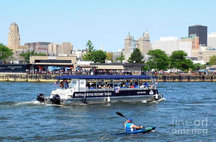 Buffalo River History Tour River Queen Boat by Rose Santuci-Sofranko