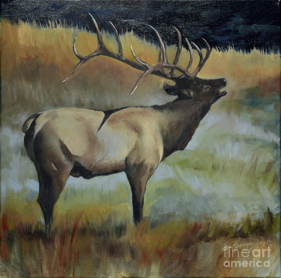 Bugling Elk by Jan Dappen