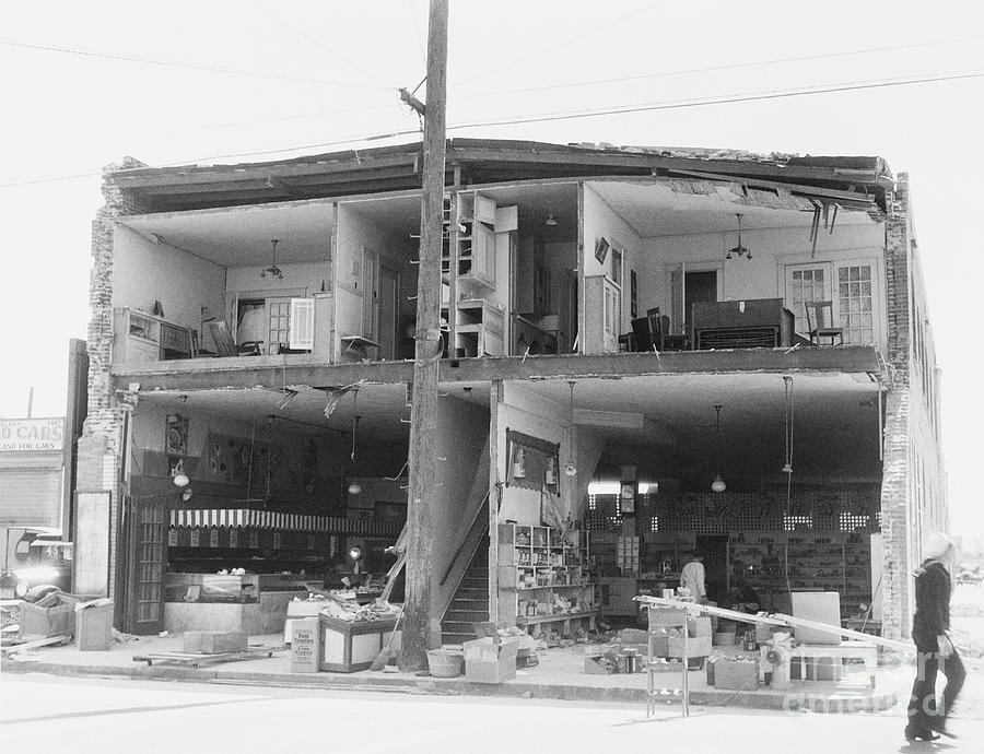 Building After Collapsing In Earthquake Photograph by Bettmann
