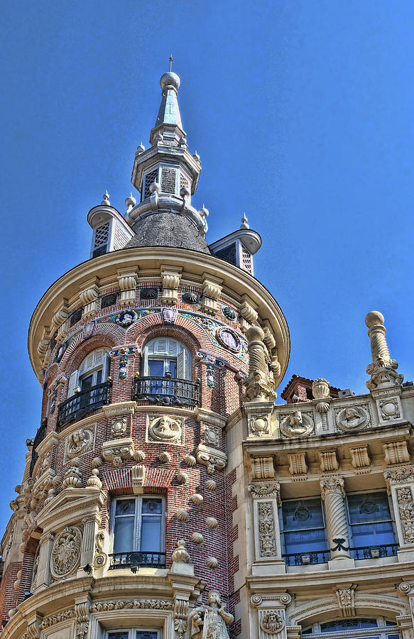 Building Architectural Detail # 2 - Madrid Photograph