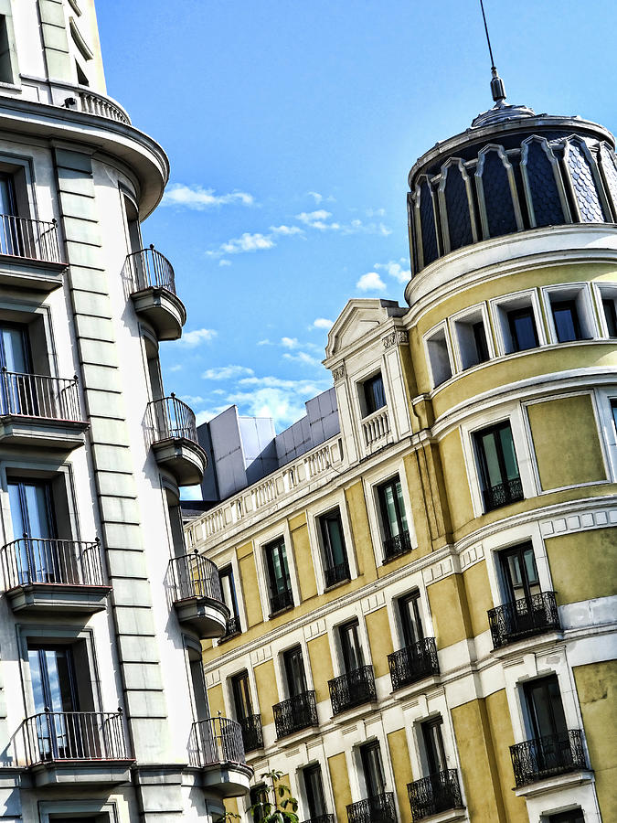 Building Architectural Detail # 3 - Madrid Photograph