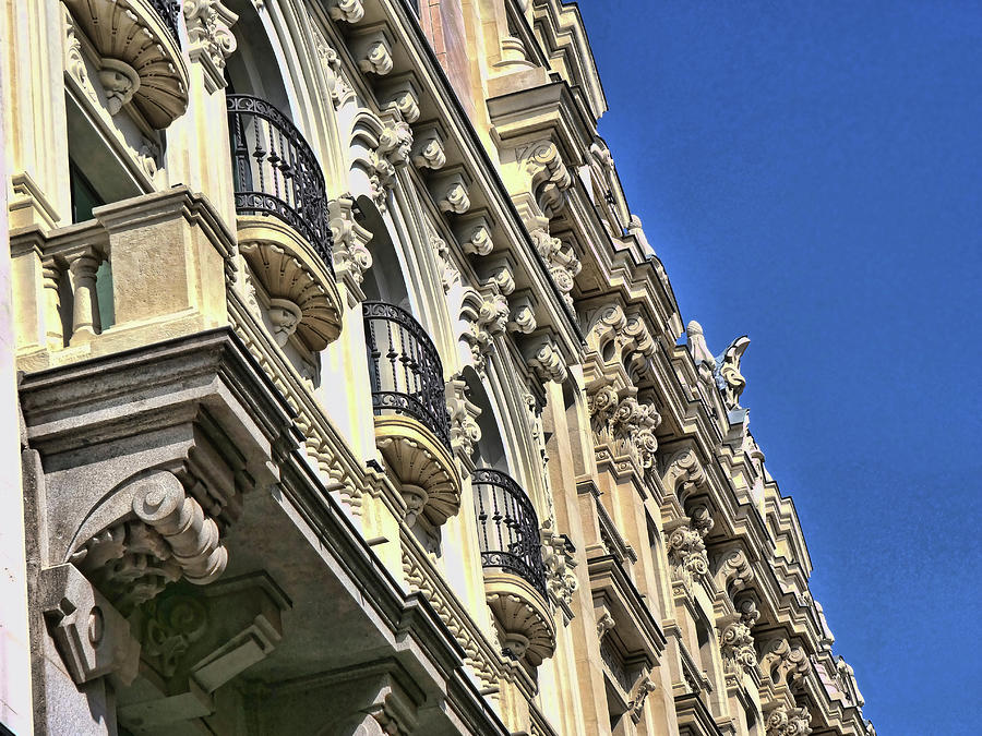 Building Architectural Detail - Madrid Photograph