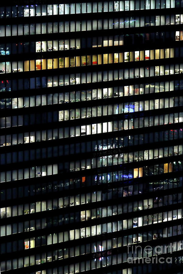 Building Photograph - Building At Night In Tokyo by Delphimages Photo Creations