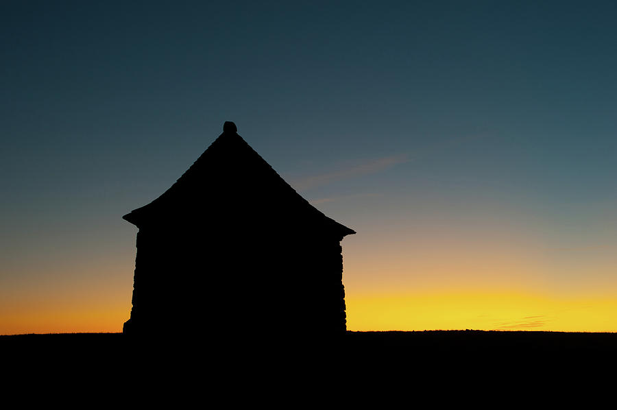 Building Silhouette at Sunset by Helen Northcott