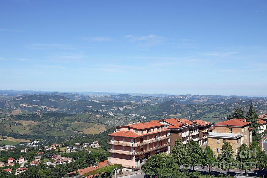 Buildings And Hills San Marino Landscape Photograph By Goce Risteski