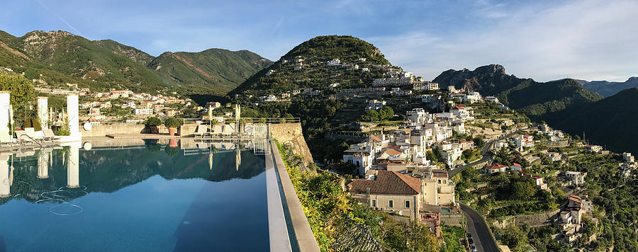 Horizontal Photograph - Buildings In A Town, Ravello, Amalfi by Panoramic Images