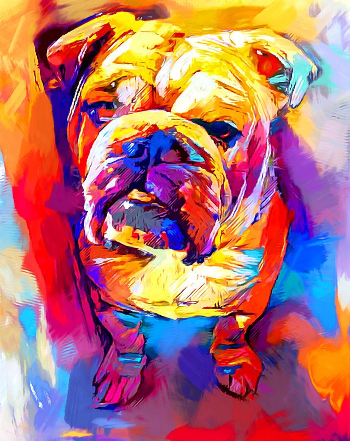Bulldog Painting - Bulldog 4 by Chris Butler