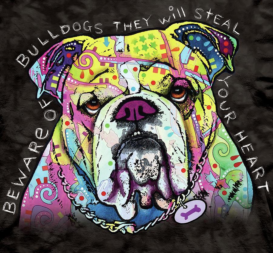 The Bulldog Mixed Media - Bulldog Heart by Dean Russo