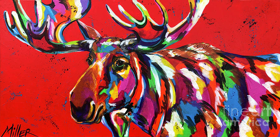 Moose Painting - Bully Moose by Tracy Miller