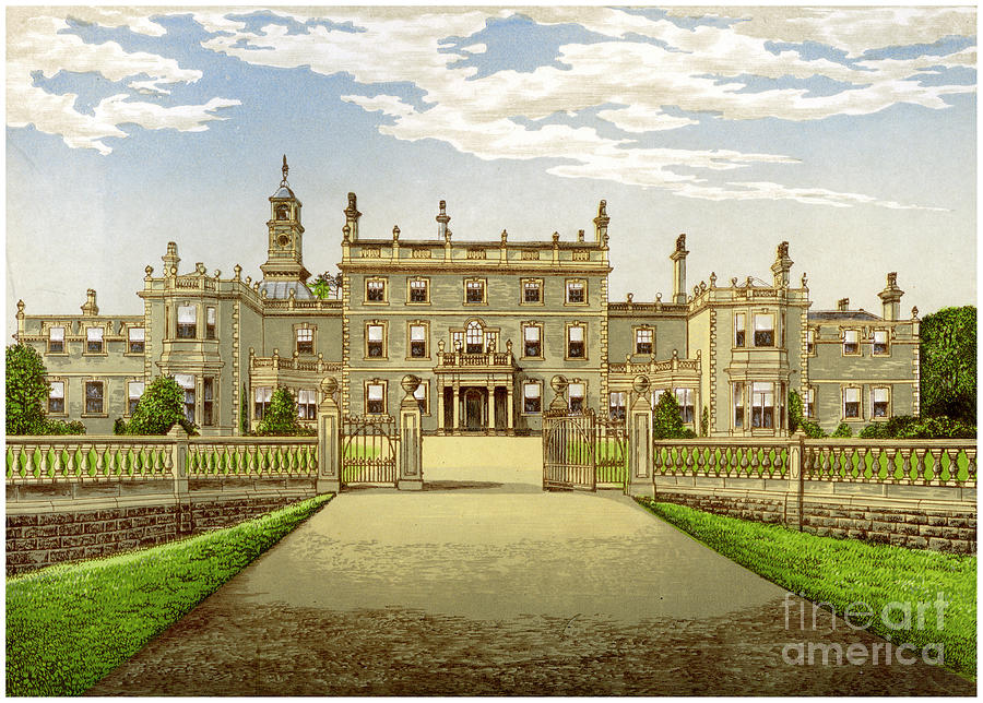Bulwell Hall, Nottinghamshire, Home Drawing by Print Collector