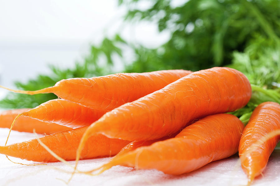 Bunch Of Fresh Carrots, Close Up Photograph by Westend61