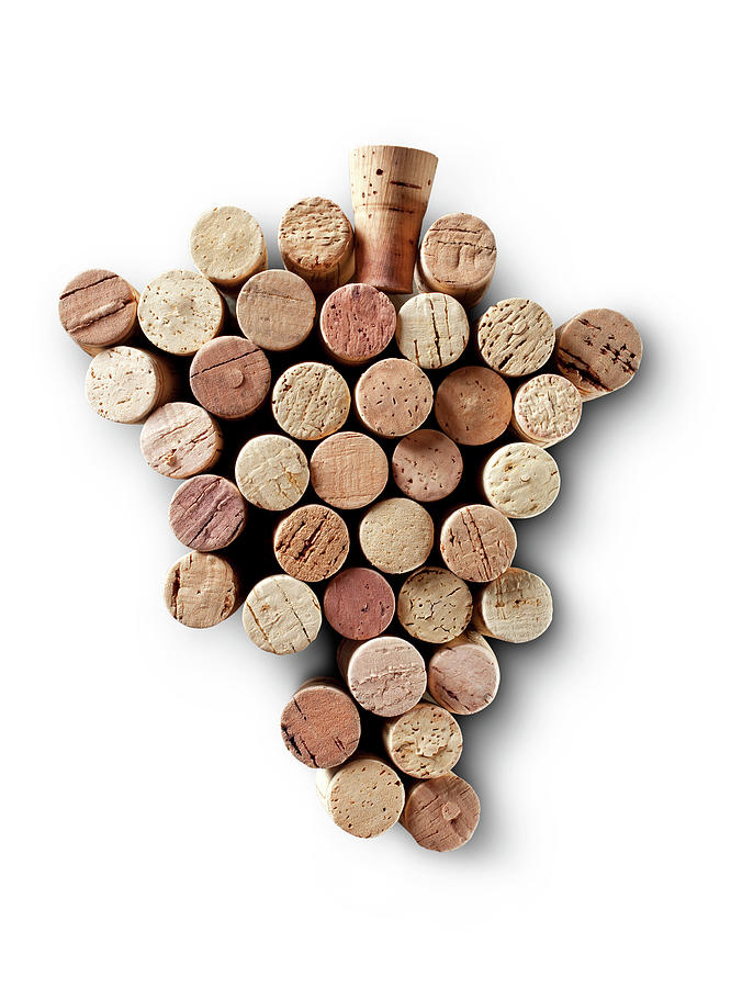 Bunch Of Wine Corks Photograph by Malerapaso