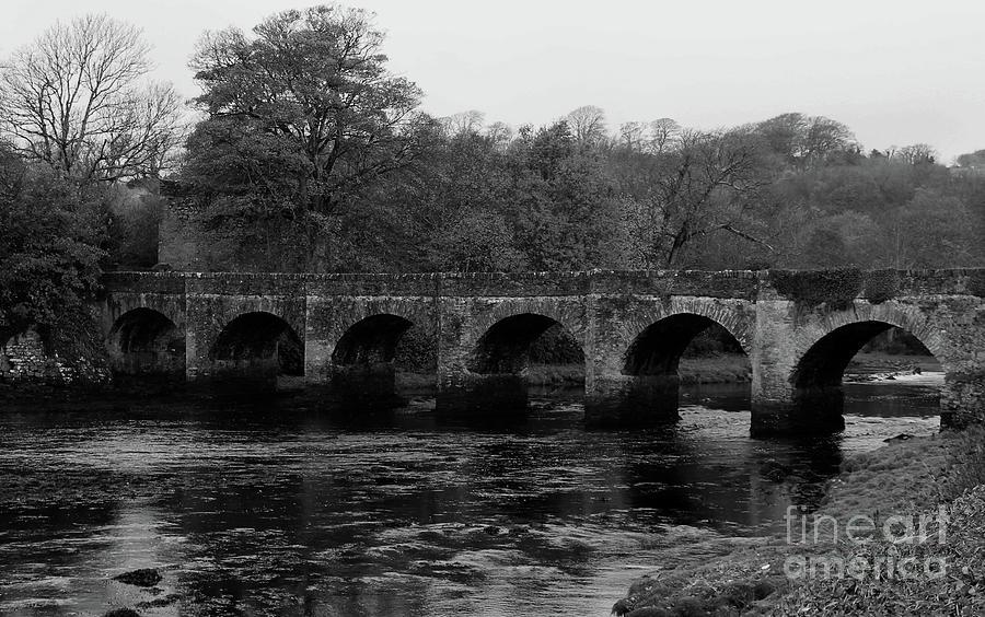 Castle Bridge In Buncrana Donegal Ireland Bw Photograph By