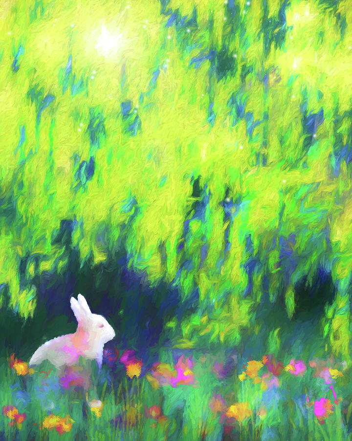 Bunny Beneath The Willow Tree 2 by Jon Woodhams